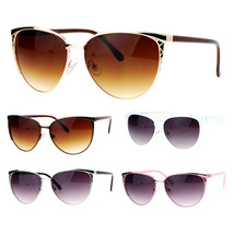 SA106 Womens Diva Metal Oversize Cat Eye Sunglasses - $9.95
