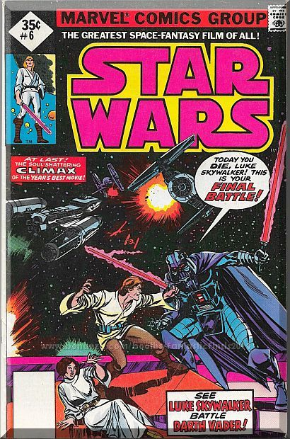 Star Wars #6 (1977) *Bronze Age / Marvel Comics / Darth Vader / Luke Skywalker*