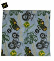 """Wholesale Lot 6 22""""x22"""" John Deere Tractors Blue Jean Pattern Bandana - $14.88"""