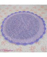 Cat Bed Crochet Crate Mat Sleep Dog Pet Blanket Washable Acrylic Lavende... - $9.99