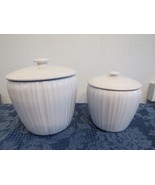 Corning Ware French White Set of 2 Covered Canister & Cookie Jar - $38.72