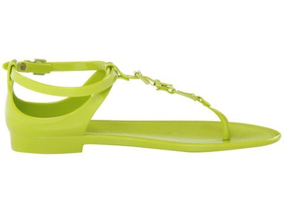 22fca8cee49 Ralph Lauren Collection Karly Jelly Gladiator Mojito Lime Sandal Sz 10   195.00