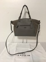 COACH Chain Prairie Satchel in Mixed Leathers  Style # 20166, Heather Grey - $176.22