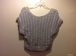 Ladies Lt Gray Knit Scoop Neck Sweater by Banana Republic Sz Medium