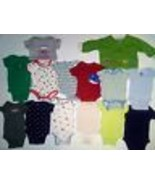 Baby Boys 0-6 Months Bodysuits Pants Sleepers 33 Piece Lot Carters Gerbe... - $19.80