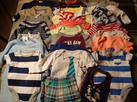 Lot of 26 pieces, boys 3-6 months clothing outfits. - $51.48
