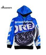 Raisevern New Spring 3D Hoodies Oreo Cookies Print Sweatshirt Pullover H... - $24.99