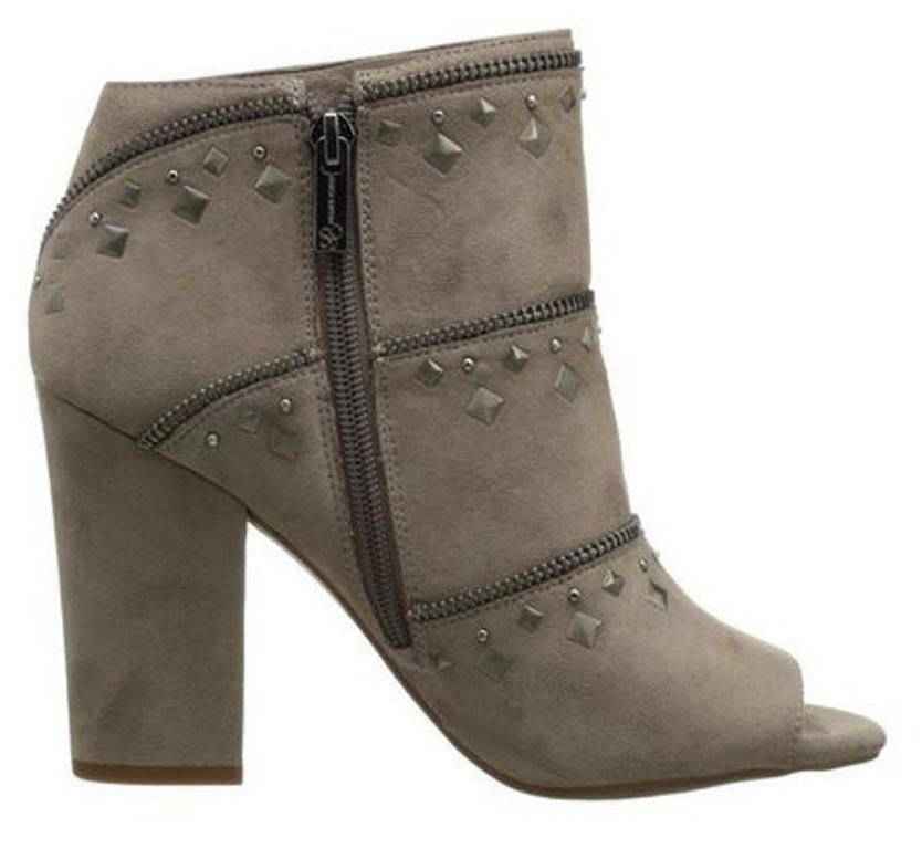 Primary image for Women's Shoes Jessica Simpson MIDARA Peep-toe Booties Heels Studs Slater Taupe