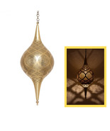 Moroccan Vintage Antique Brass Light, Hand engraved Moroccan Copper Lamp... - $380.97