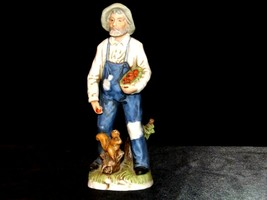 Figurine of a Farmer with Squirrel Homco 1434 AA19-1618 Vintage image 2