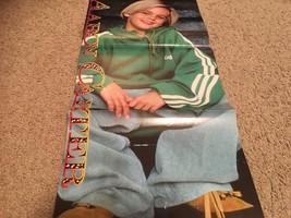 Aaron Carter Melissa Joan Hart teen magazine poster clipping green sweatshirt