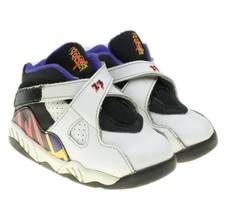 Nike Air Jordan 8 Retro ThreePeat Toddler White Purple Sneakers Sz 7C 30... - $24.74