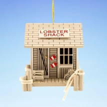 MINI WOODEN LOBSTER SHACK w/ TRAPS & PILINGS COASTAL NAUTICAL CHRISTMAS ... - $9.88