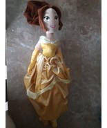 "Disney Store Belle Plush Stuffed Animal Doll Yellow Dress 19"" Beauty and... - $16.78"