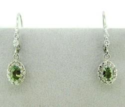 14k White Gold 1.22 Carat Genuine Natural Alexandrite Earrings (#J783) - $2,150.00