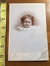 Cabinet Card Precious Young Girl Vignette Style Studio Artwork 1860-80! - $12.00