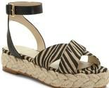 Vince Camuto Delindan Zebra Print Espadrille Flatform Sandals, Multi Sizes Black