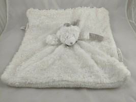 Blankets & Beyond White Bear Lovey Security Blanket Pacifier Stuffed Animal - $9.95