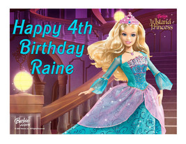Barbie edible cake image party decoration cake topper cake image sheet - $7.80
