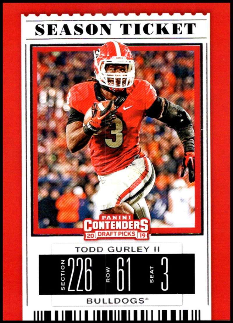 Primary image for 2019 Panini Contenders Draft Tickets Season Ticket #95 Todd Gurley II NM-MT Geor
