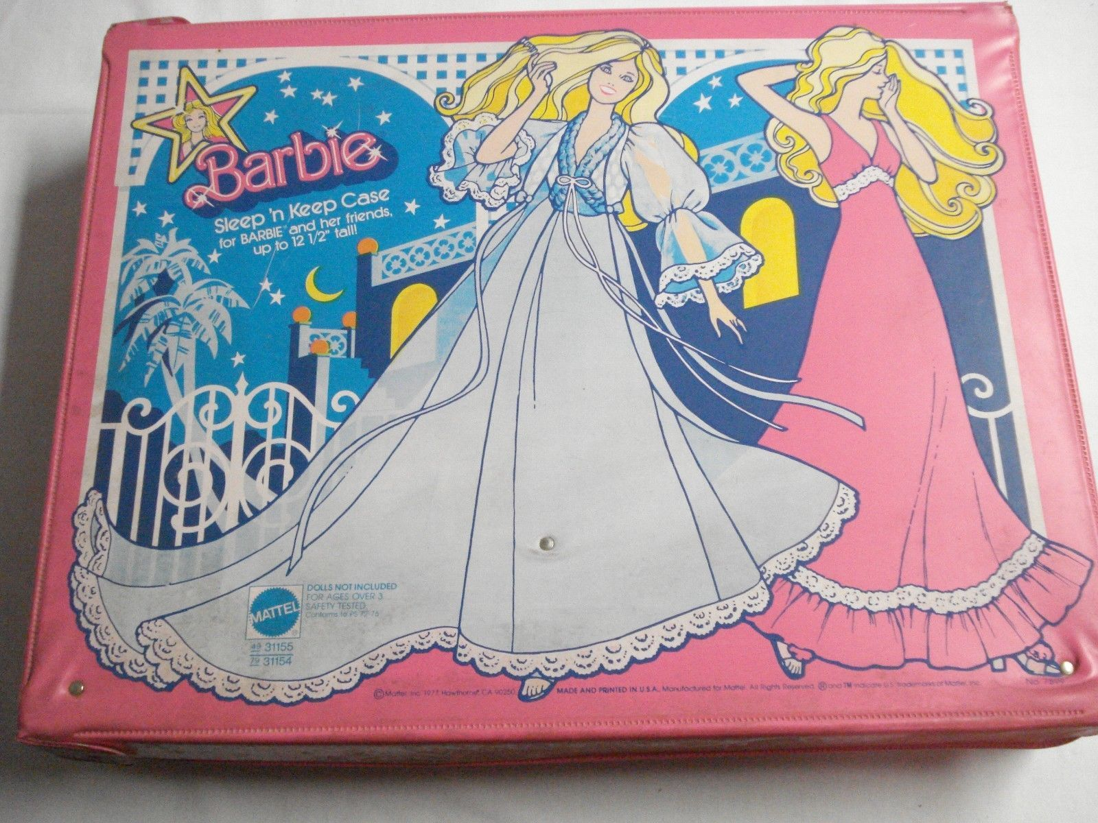 Four Used Vintage Barbie Doll Cases 1958, Barbie and Midge 1964, 1968, and 1977