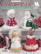 Christmas Air Freshener Covers Crochet Reindeer Angel Santa Mrs Claus De... - $13.95