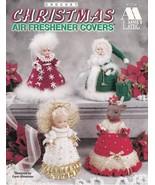 Christmas Air Freshener Covers Crochet Reindeer Angel Santa Mrs Claus De... - $13.95