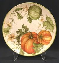 "Pier 1 Harvest Garden 11"" Stoneware Dinner Plate Fall Autumn Thanksgiving - $22.99"