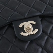 AUTHENTIC CHANEL QUILTED BLACK LAMBSKIN BACKPACK BAG GHW image 4