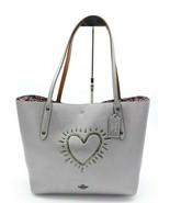 NWT Coach 1941 X Keith Haring Metallic Heart Leather Market Tote Bag 286... - $248.00