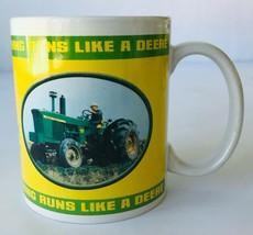 John Deere Tractors Coffee Mug 2004 Collectors Licensed #31251 Houston Harvest a - $6.42