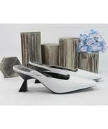 Givenchy White Lambskin 70MM Lookbook Mules Runway Heels Size 40 10 NIB - $390.56