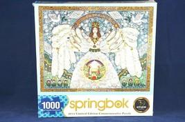 A Christmas Angel Springbok Puzzle Bob Schneeberg 1000 Pieces Hallmark S... - $28.54