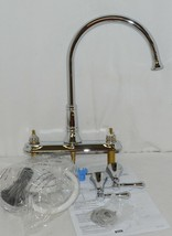Delta Cassidy Two Handle Kitchen Faucet Side Spray Chrome 2497LF image 1