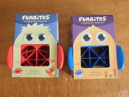 FunBites Food Cutter 2 Sets Red Hearts/Blue Triangles NIB (T) - $19.99