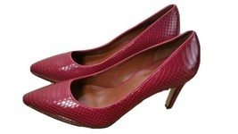 Cole Haan Pumps Red Leather Classic Pumps Pointy Toe Size 7 And 7.5  - $39.58