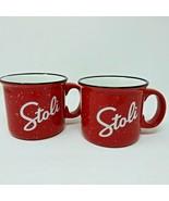 Stolichnaya Vodka Red Large Coffee Mug Stoli Set of 2 - $11.26