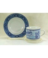American Atelier 2009 Asian Blue Cup And Saucer Set  #5025 - $9.89