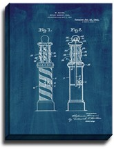 Rotary Barber's Pole Patent Print Midnight Blue on Canvas - $39.95+