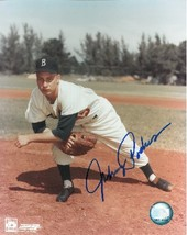 Johnny Podres signed Brooklyn Dodgers 8x10 Pitching Photo (deceased) - $15.00