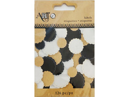 Art-C Self-Adhesive Scalloped Labels, 126 Pieces #23858 R6
