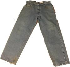 Silvertab Levis Baggy Fit Blue Jeans 34 x 32 Retro Vintage 90s Distresse... - $29.02