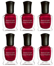 Lot 6 Deborah Lippmann Silk Matte Nail Polish Red Silk Boxers Limited Ed... - $19.99