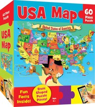 d6eb8c647 MasterPieces Explorer Kids - USA Map - 60 Piece Kids Puzzle Standard Pac.