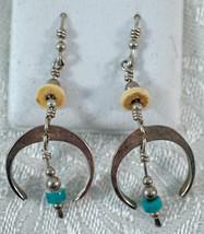 Sterling Silver Southwest Style Naja Dangle Earrings - $26.99