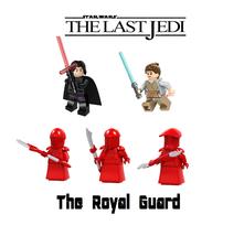 star wars the Last Jedi Rey Kylo Royal Guards 5pc set  Minifigures Force... - $34.99