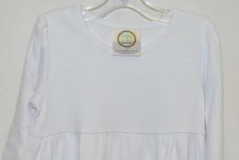 Blanks Boutique White Long Sleeve Empire Waist Ruffle Dress Size 2T - $14.99