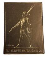 Kolozs Lajos Men's Santa In Corpore Sano Ex Libris Exlibris Bookplate - $29.69
