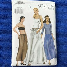 VOGUE 7280 SEWING PATTERN SET OF 3 SKIRTS A-LINE OR FLARED SKIRTS SZ 14 ... - $12.99