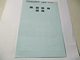 Microscale Decals Stock # 87-1217 Chicago Burlington & Quincy Cabooses & MOW    image 1